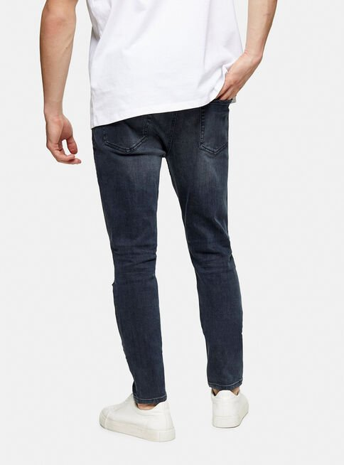 Jeans%20Azul%20Oscuro%20Ripped%20Stretch%20Skinny%20Topman%2C%C3%9Anico%20Color%2Chi-res