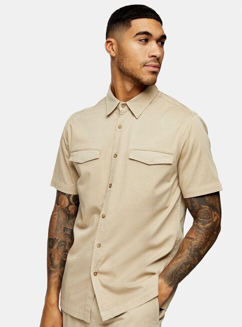 Camisa%20Stone%20Wash%20Twill%20Slim%20Fit%20Topman%2C%C3%9Anico%20Color%2Chi-res