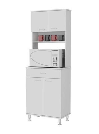 Mueble de Cocina Microondas Kitchen 4 Puertas 60x35x169 cm TuHome,,hi-res