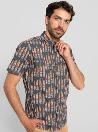 Camisa Maga Corta Moai Stoked,Diseño 1,hi-res