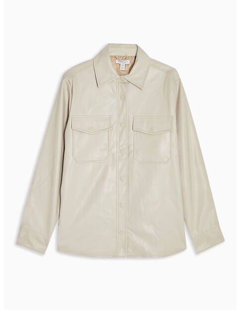 Blusa%20Taupe%20Faux%20Leather%20Topshop%2C%C3%9Anico%20Color%2Chi-res