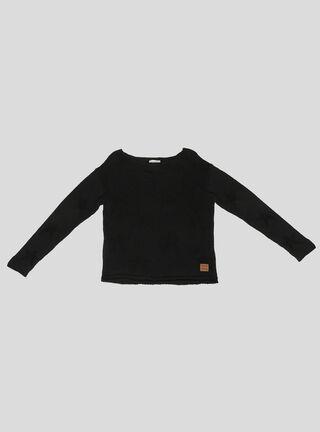 Sweater Foster Tejido Niña,Negro,hi-res