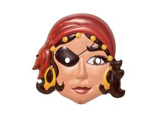 Máscara R.A. Pirata Mujer Niño Carnaval,,hi-res