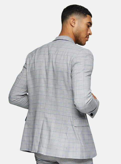 Chaqueta%20Traje%20Gris%20Check%20Single%20Breasted%20Skinny%20Fit%20Topman%2C%C3%9Anico%20Color%2Chi-res