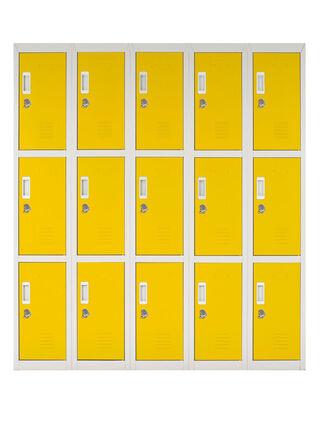 Locker Office Candado Amarillo 15 Puertas 140x50x166 cm Maletek,,hi-res