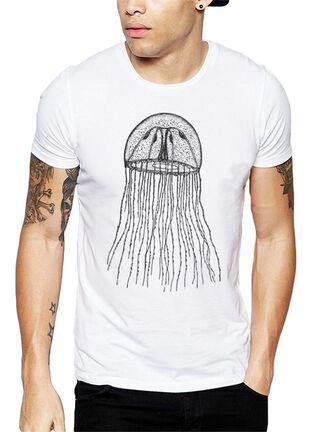 Polera Jellyfish Get Out,Blanco,hi-res