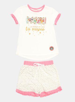Pijama Mi Duende Mágico Vuelos Niña,Blanco,hi-res
