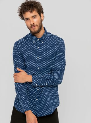 Camisa Gunter Azul Wrangler,Azul,hi-res
