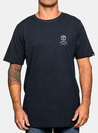 Polera Logo Piratas Gangsta,Azul Marino,hi-res