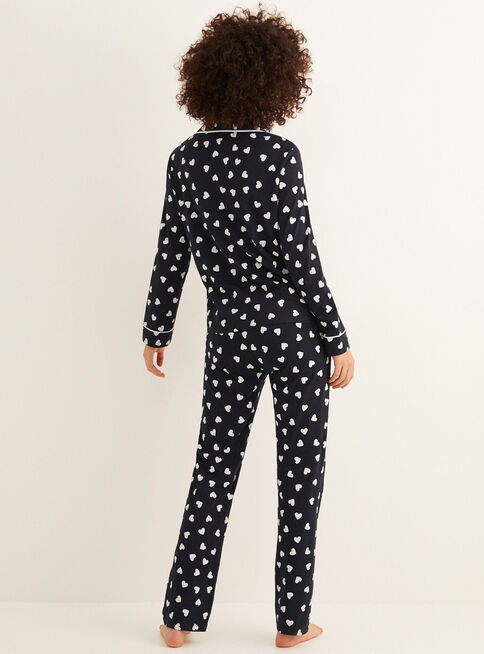 Pijama%20Daily%20Hearts%20Dise%C3%B1o%20Corazones%20Women'Secret%2CNegro%2Chi-res