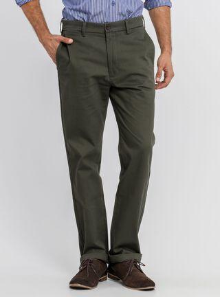 Pantalón Liso Recto Hombre Dockers,Verde Militar,hi-res