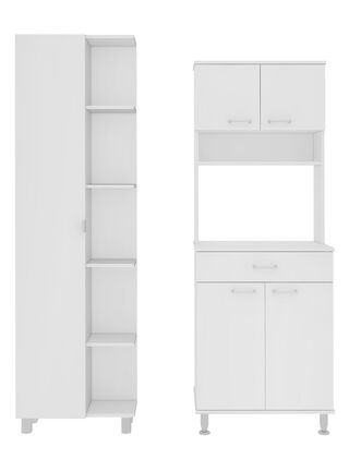 Muebles de Cocina: Microondas + Optimizador Diseño 7 TuHome,Blanco,hi-res