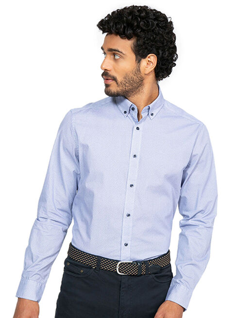 Camisa%20Sport%20Miniprint%20Tailored%20Fit%20Arrow%2CAzul%20Marino%2Chi-res
