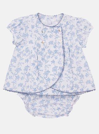 Vestido + Calzón Lucky Baby Estampado Niña,Blanco,hi-res