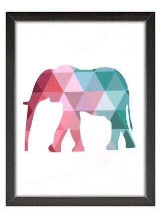 Cuadro Vidrio Elefante 40 x 60 cm Home Republic,,hi-res