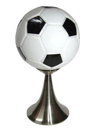 Lámpara de Mesa Attimo Vidrio Futbol Negro 38 cm,,hi-res