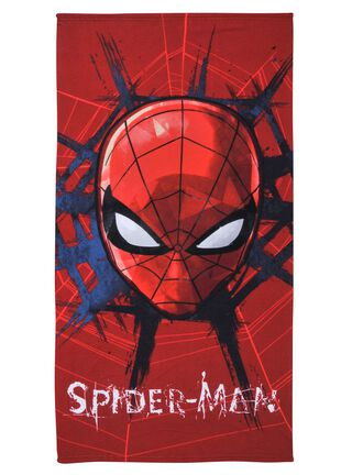 Toalla Playa Spiderman Face 70 x 140 cm Licencias Infantiles,,hi-res