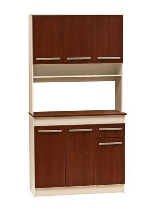Kit Mueble de Cocina Cerezo 6 Puertas 90x38x180 cm Mobikit,,hi-res