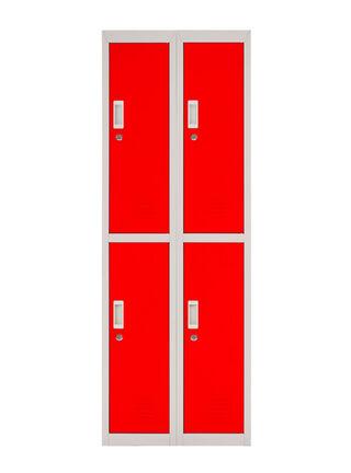 Locker Office Llaves Rojo 4 Puertas 57x50x166 cm Maletek,,hi-res