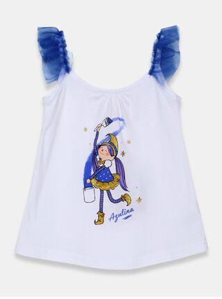 Polera Mi Duende Mágico Azulina Niña,Azul Eléctrico,hi-res