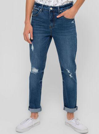 Jeans Slim Fit Rasgado Foster,Azul,hi-res