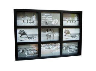 Marco de Fotos Plástico Attimo 10 x 15 x 9 cm,Negro,hi-res