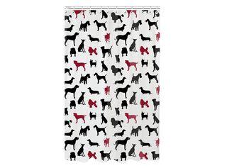 Cortina de Baño Micro Dog Aspen 180 x 180 cm,Blanco,hi-res