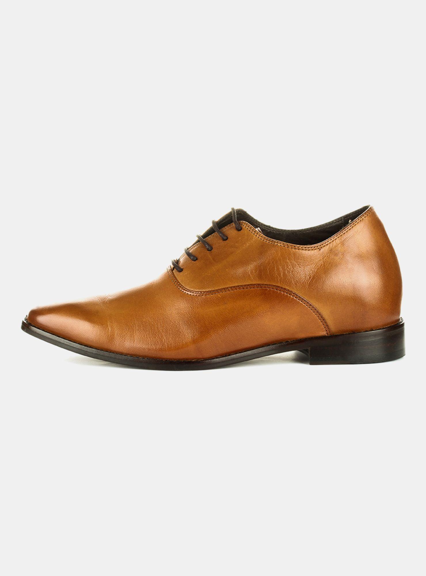 4071a801 Zapato de Vestir Max Denegri +7cm Elegant Café en Zapatos de Vestir ...