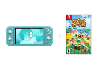 NINTENDO SWITCH LITE TURQUOISE + JUEGO NINTENDO SWITCH ANIMAL CROSSING: NEW HORIZONS