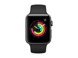 Apple Watch Serie 3 GPS, 42mm Space Gray, Correa Deportiva Negra,,hi-res