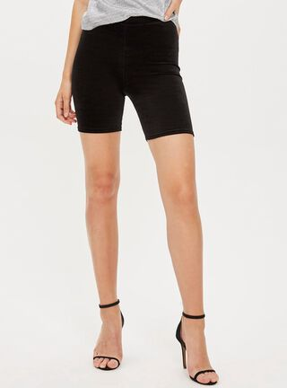 Short Velvet Cycling Black Topshop,Único Color,hi-res