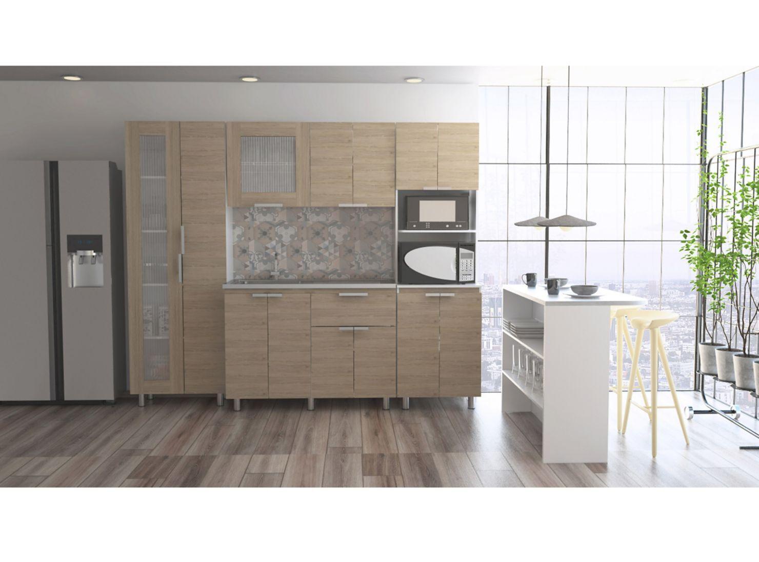 Muebles Cocina Fendi Alacena + Interior + Auxiliar + Superior + ...