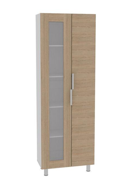 Combo Muebles Cocina Fendi Rovere Blanco Alacena + Muebles Microondas +  Interior + Superior TuHome