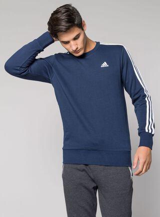 Polerón Adidas Deportivo Hombre 3S Crew,Azul,hi-res
