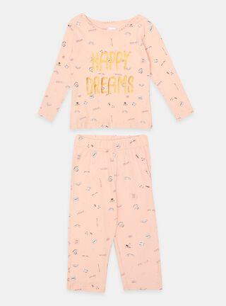 Pijamas Tribu Estampado Niña,Rosado Pastel,hi-res