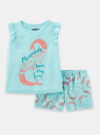 Pijama 2 Piezas Niña 2 A 4 Años OshKosh B'Gosh,Turquesa,hi-res