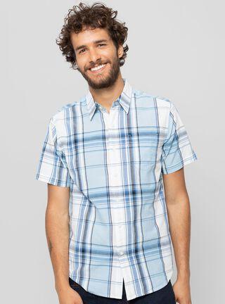 Camisa Manga Corta Cuadrillé Levi's,Celeste,hi-res