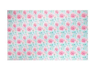 Papel Mural Tamaño A Celeste Flores Rosadas Vm Print,,hi-res