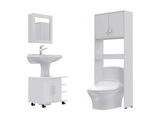 Combos Baño Big Bath Botiquín 47-B + Optimizador Lavamanos 2 Puertas + Armario Optimizador TuHome,,hi-res