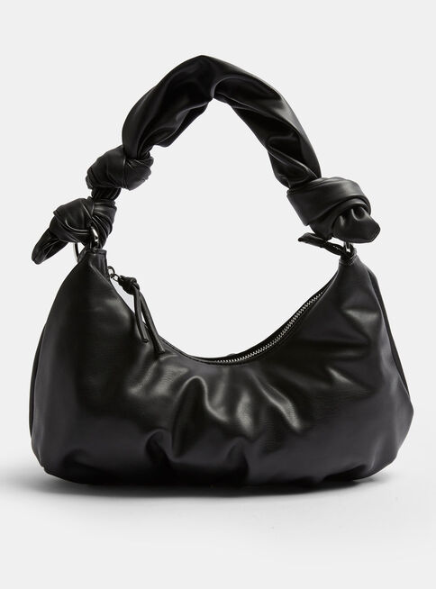 Cartera%20Knotted%20Half%20Moon%20Faux%20Leather%20in%20Black%20Topshop%2C%C3%9Anico%20Color%2Chi-res