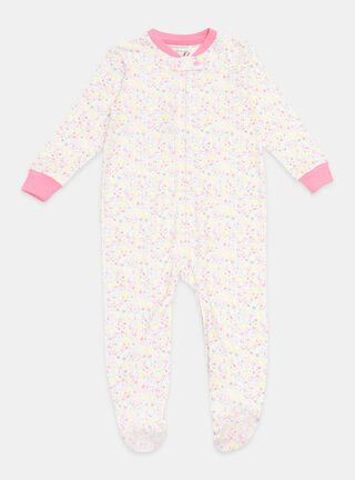 Pijama Tribu Flores Niña,Blanco,hi-res