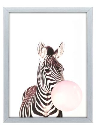 Cuadro Tela Zebra 30 x 40 cm Home Republic,,hi-res