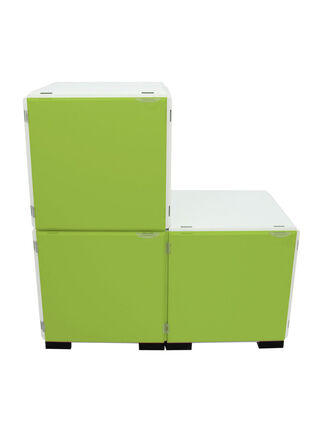 Mueble Modular Set 16 Piezas Blanco Verde Kab Möbel,,hi-res