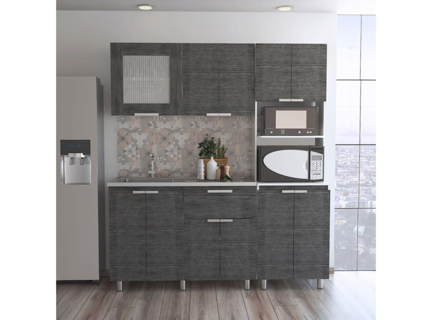 Muebles Cocina Fendi Rovere Gris Interior + Superior + Mueble ...
