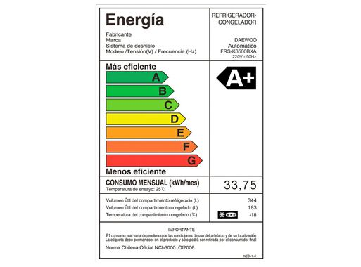 Refrigerador%C2%A0Side%20by%20Side%20Daewoo%C2%A0No%20Frost%20527%20Litros%20FRSK6500BXA%2C%2Chi-res