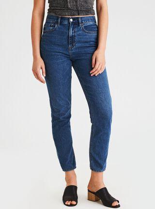 Jeans Mom American Eagle,Turquesa,hi-res