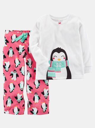 Pijama Polar Niña Tallas 2 a 4 Años Carter's,Diseño 1,hi-res