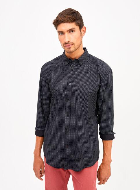 Camisa%20Manga%20Larga%20Poplin%20Mini%20Print%20Rainforest%2CNegro%2Chi-res