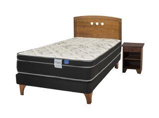 Cama Europea Night Seven 1.5 Plazas + Set Muebles Juvenil Flex,,hi-res