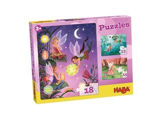 Puzzle Hadas 3 Motivos Con 12, 15 y 18 Piezas Haba,,hi-res